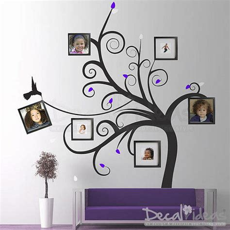 Wall Sticker Photo Frames family tree wall decal photo frame from stunningwalls on
