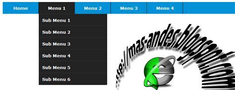 membuat menu dropdown css bertingkat dengan efek jquery cara membuat animasi menu drop down di blog blog mas andes