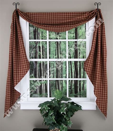 Fishtail Swags Valances park design sturbridge lined fishtail swag black