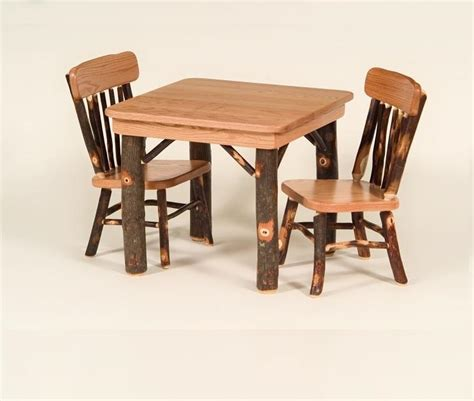 amish childrens table and chairs childs hickory table and chair set carriage house