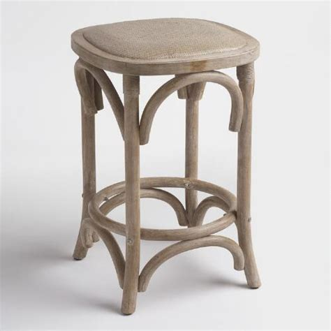 How To Use World Market Gift Card Online - gray yasmin backless counter stool with rattan seat world market