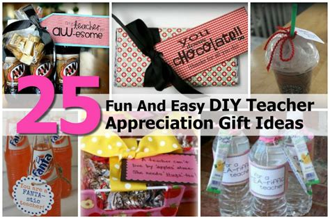 Classroom Gift Ideas - 25 and easy diy appreciation gift ideas