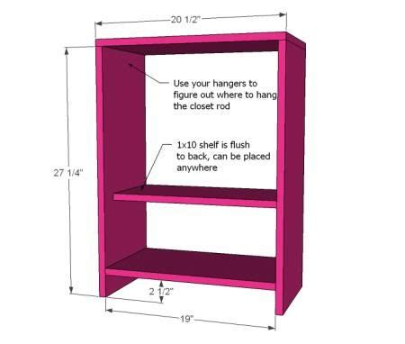 ana white build a star american girl doll closet plans woodworking projects plans
