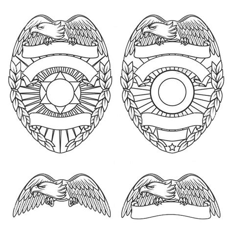 pin police badge colouring pages on pinterest