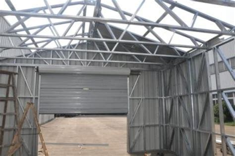 Pre Built Metal Sheds Waterproof Prefabricated Sheds Metal Car Sheds With