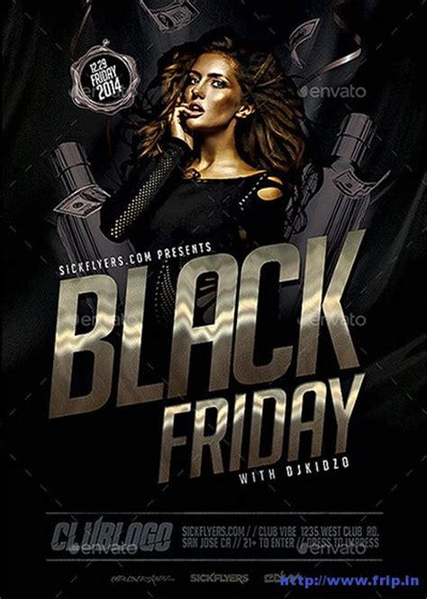 35 Best Black Friday Club Party Flyers 2016 Frip In Black Flyer Template