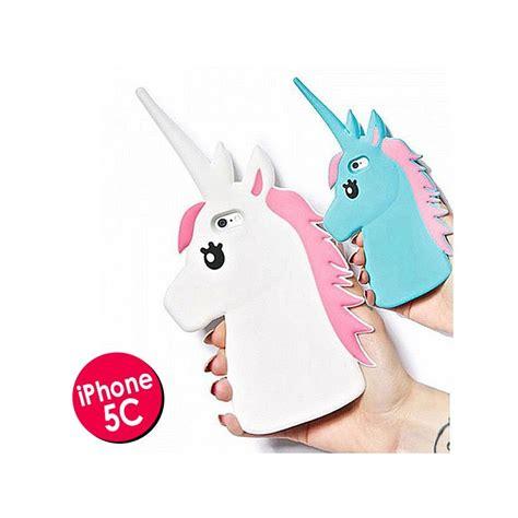 coque licorne unicorn bleu silicone  pour iphone