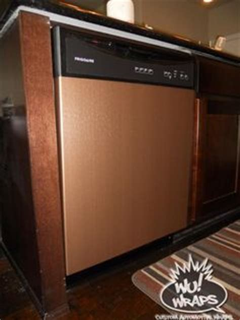 brushed copper kitchen appliances a castle for my queen fridge stove mircowave dishwasher wrapped in 3m di noc