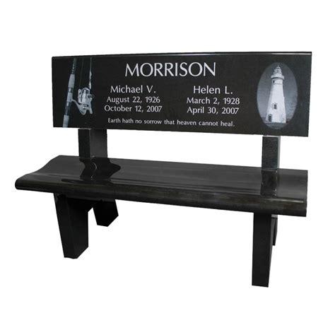 black park bench select black park bench modlich monument company
