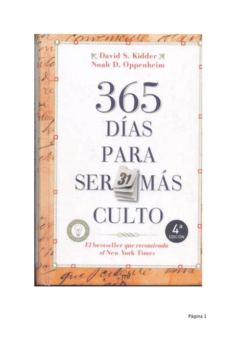 365 momentos clave de 365 di 236 as para ser ma 236 s culto