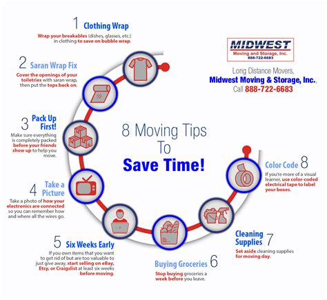 8 Timesaving Tips by 8 Moving Tips To Save You Time Shared Info Graphics