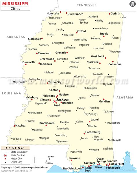 map of usa mississippi cities in mississippi mississippi cities map