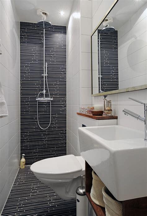 decoration petite salle de bain en longueur