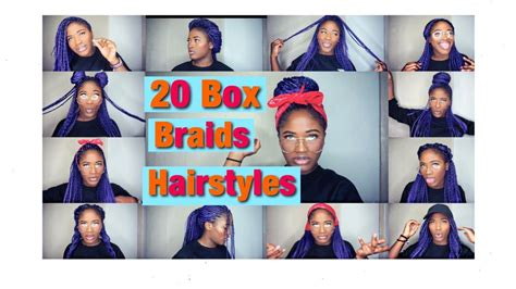 school hairstyles with box braids color gurl