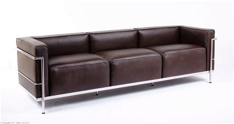 Lc Sofa by Le Corbusier Lc 3 Sofa Java Brown Leather