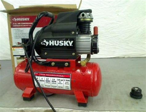 husky 3 gal portable electric air compressor ebay