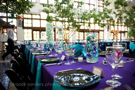 purple and turquoise wedding reception more than words brian amanda september 2010