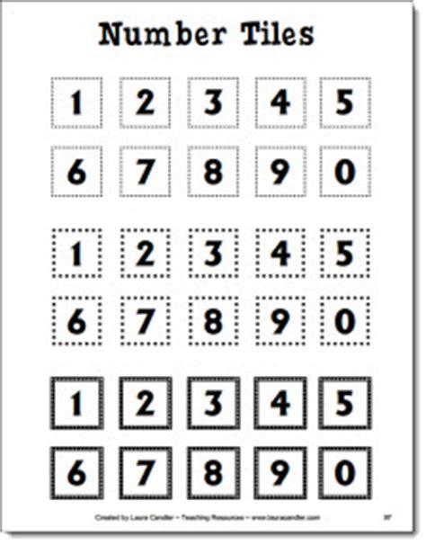 Printable Number Tiles 1 20 | 7 best images of number tiles printable 0 9 glitter