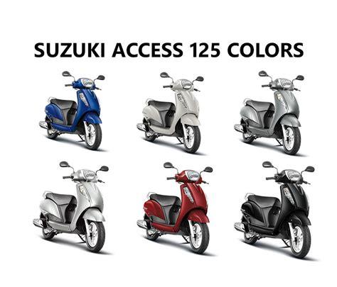 Suzuki Access 125 Colours Suzuki Access 125 Colors White Gray Blue Silver