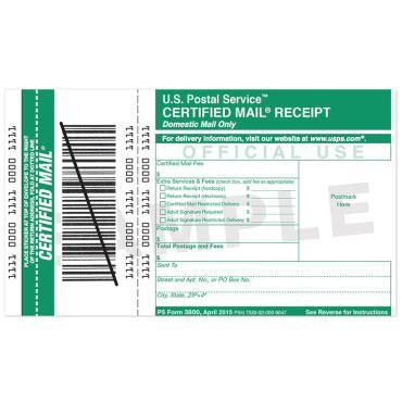 certified mail receipt | usps.com
