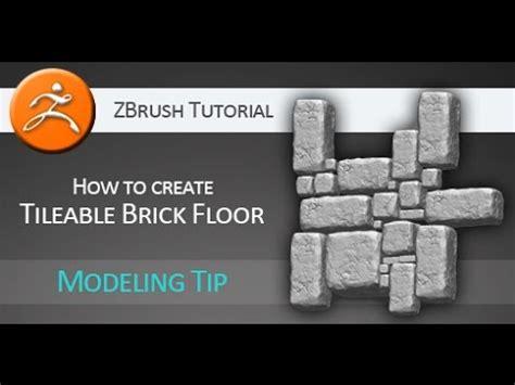 zbrush navigation tutorial tutorial how to create tileable brick floor in pixologic