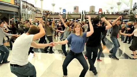 denver swing dance denver airport holiday flash mob youtube
