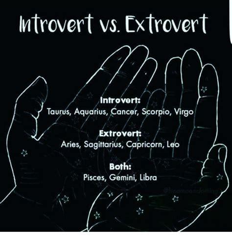 ntrovert vs extrovert introvert taurus aquarius cancer