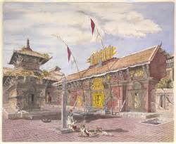Tomples Makan Svc temple of devi deota ke mookan attached to the tallajoo temple kathmandoo march 1857