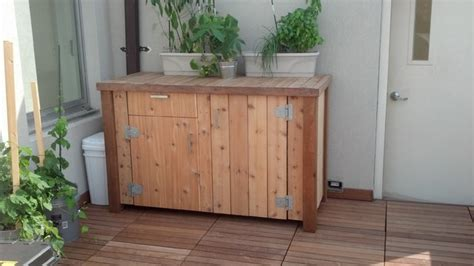 Deck Storage Cabinet Custom Exterior Ipe Deck And Storage Traditional Deck Boxes And Storage New York By