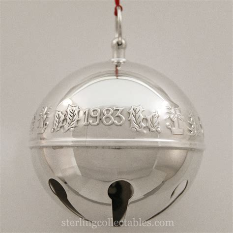 wallace silver bell 2018 1983 wallace sleigh bell silverplate ornament sterling collectables