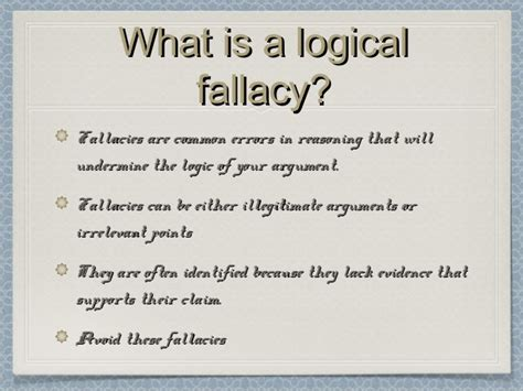 exle of logical fallacy logical fallacies