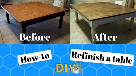 how to refinish a table how to refinish a table diy before and after