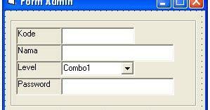 tutorial membuat form login di excel membuat form kasir pada vb 6 0 pintar vb tutorial