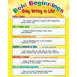 Colorful Wall Hooks bold beginnings bring writing to life poster
