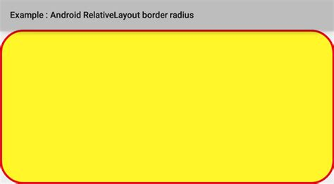 android layout xml padding margin how to set relativelayout border radius in android