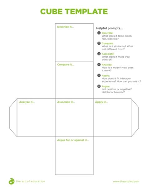 cube template pdf effective strategies for formative assessment the of ed
