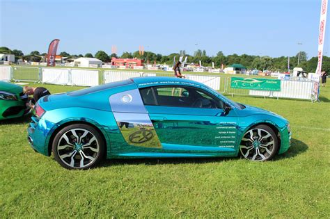 audi r8 wrapped audi r8 v10 wrapped in chrome by cfx
