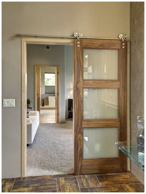 Sliding Barn Style Doors For Interior Doors For House Interior Tokio Glass Modern Interior Door Wenge Finish Modern Interior Doors