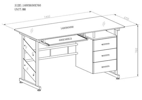 office desk depth standard computer desk dimensions