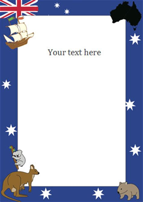 australia day notepaper / page borders | free early years
