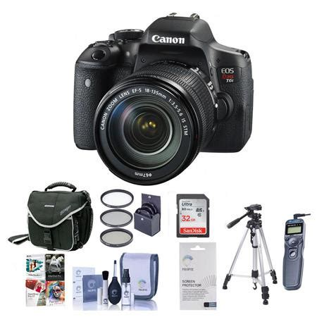 canon eos rebel t6i dslr camera with ef s 18 135mm f/3.5 5