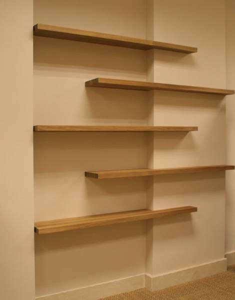 this is how the shelves would be installed on a flat wall