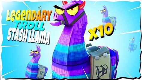 opening  legendary troll stash llama fortnite save