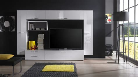 black wall paint decorations living room furniture modern tv stand ideas