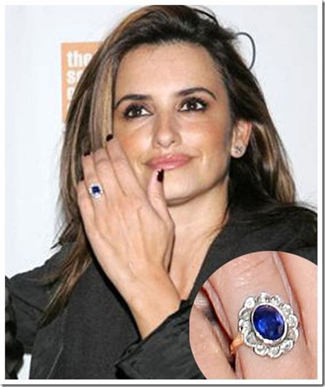 celebrity engagement rings sapphire penelope cruz sapphire engagement ring top 10 celebrity