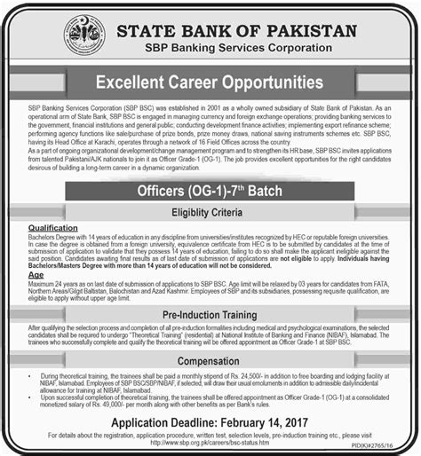 State Bank Application State Bank Of Pakistan 2017 Available For Officers