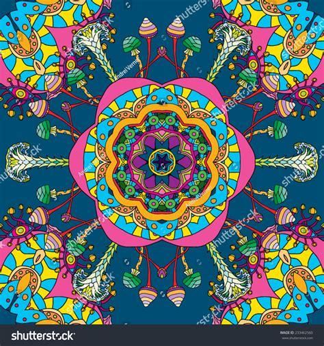pattern magic italiano psychedelic magic mushroom hallucination mexican ornament