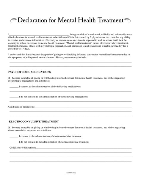 declaration document template declaration health declaration form image health
