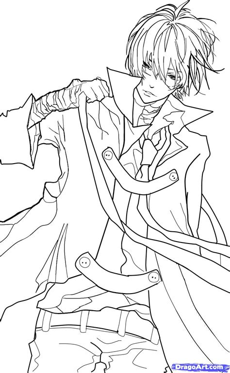 anime guy coloring pages vitlt com full body side view anime guy coloring pages