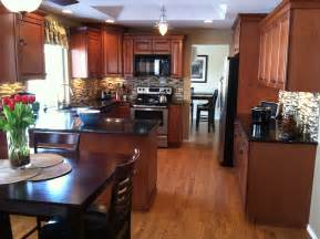 new kitchen maple cognac cabinets healthy mind